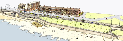 A £3.35 million project to safeguard and strengthen Whitley Bay's sea defences is underway.