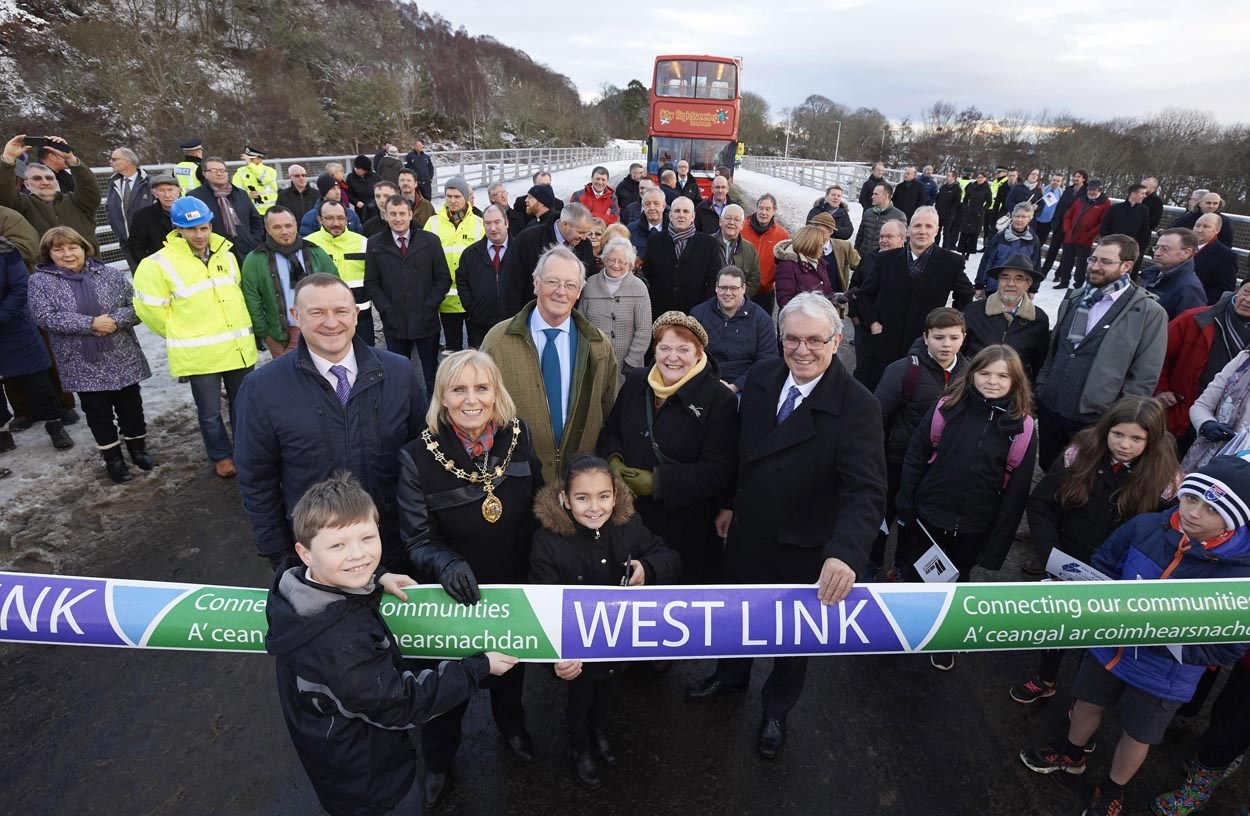 Phase 1 of the Inverness West Link project has officially opened